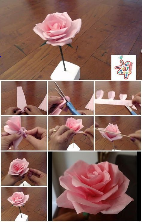Make Flowers With Tissue Papers