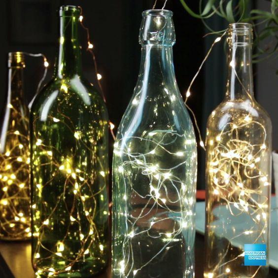 Wine Bottles Lanterns