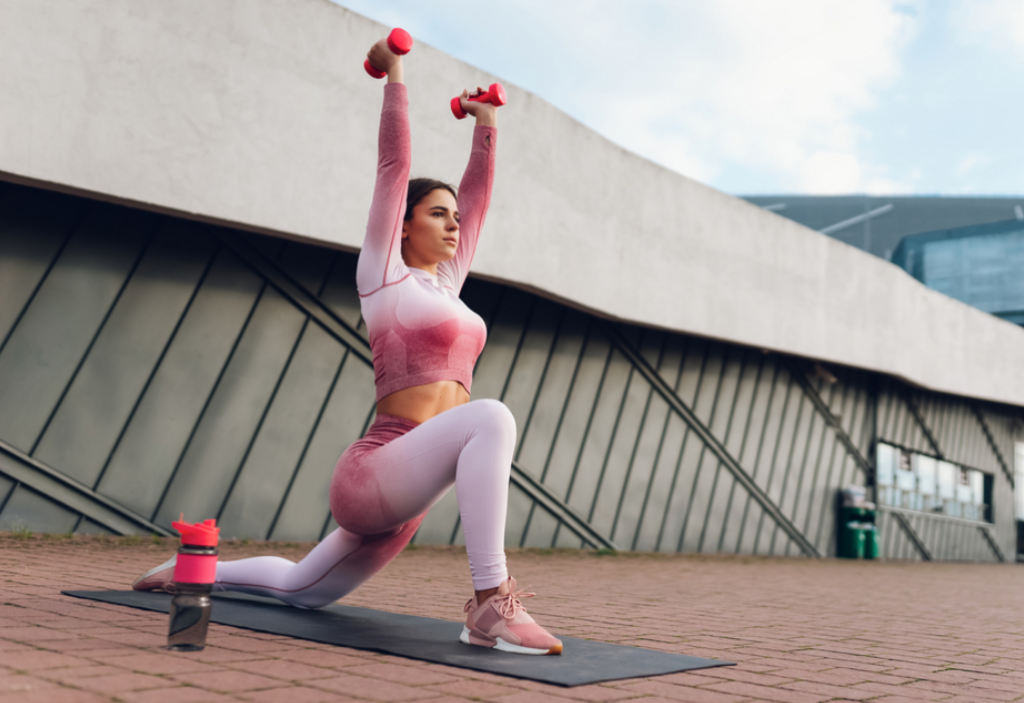 Lunges with dumbbells To Gain Weight in Legs Fast
