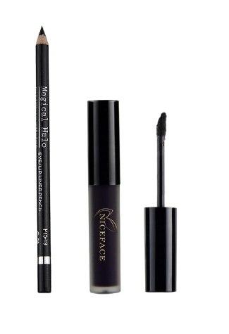 MAEPEOR Black Matte Lipstick and Lip liner