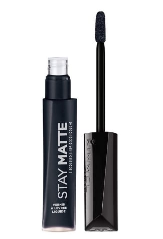 Rimmel Stay Matte Lip Liquid, Pitch Black, 0.21 Fl Oz