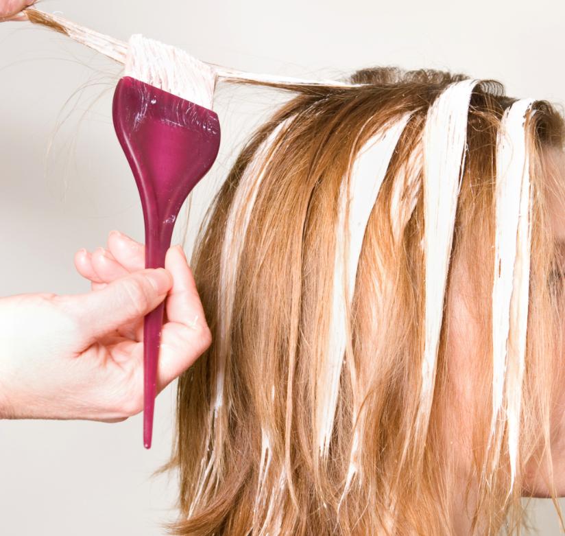 Bleaching hair process
