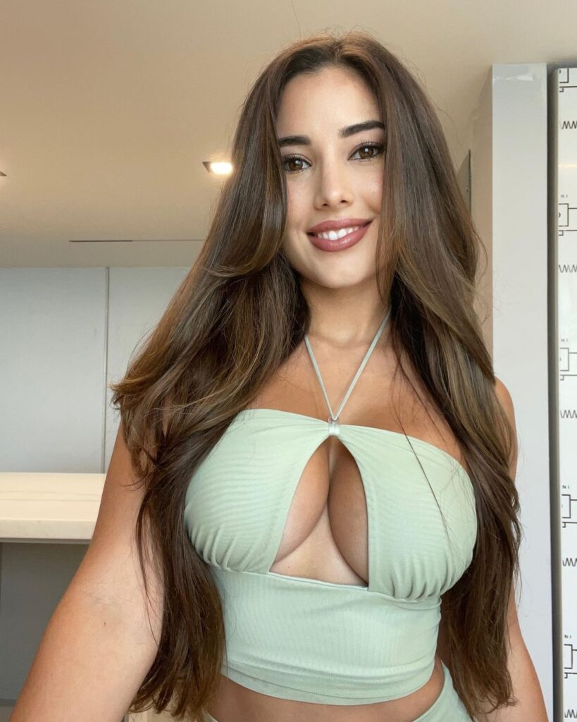 Angie Varona is a stunning young lady with a nice face and a slim frame