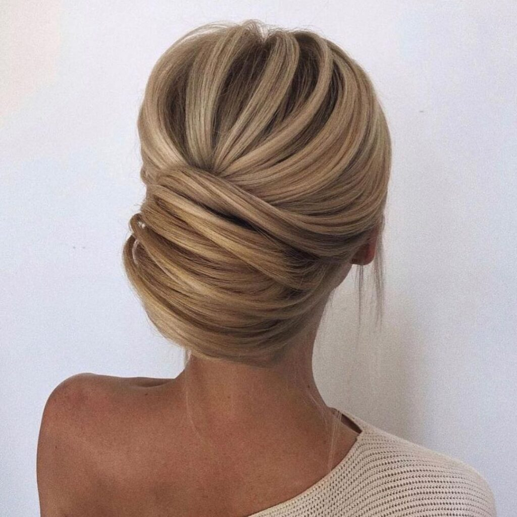 Beautiful French Twist Specially Short Hair