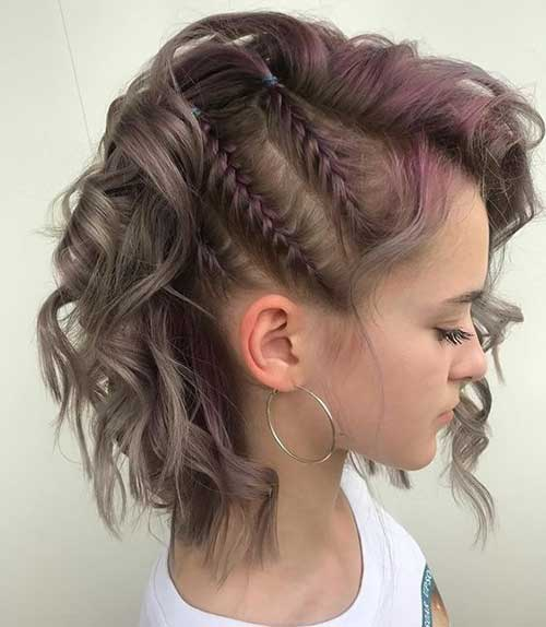 Double Side Braids Short Hairstyle For Short Hair