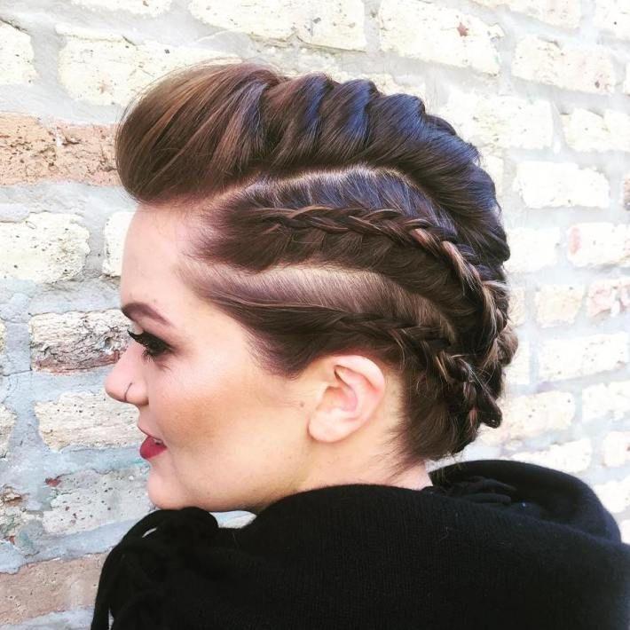 French Braid Mohawk for short hair