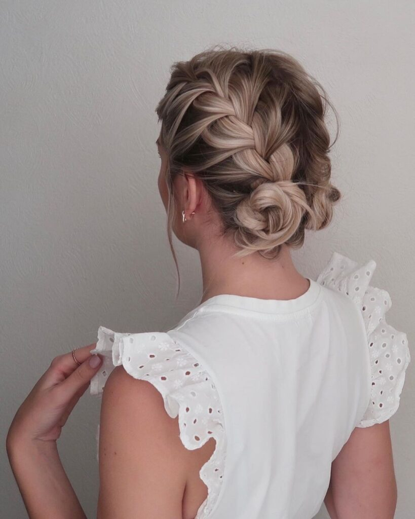 Messy French Braids Short Hairstyle