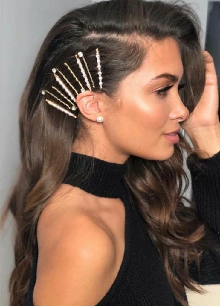 Side Bobby Pins Short Hairstyle