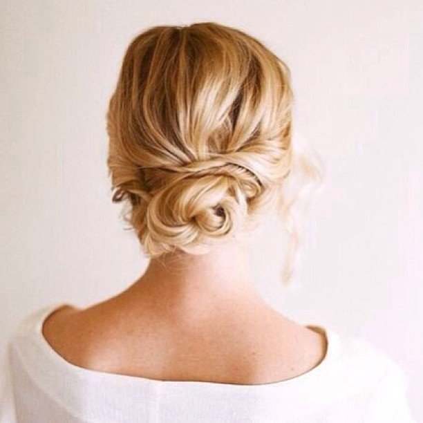 Sophisticated Bun Hairstyle Perfect for Short Hair