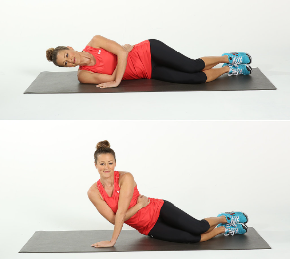 The one-arm push-up is an effective way to target the triceps and get rid of flabby arms.