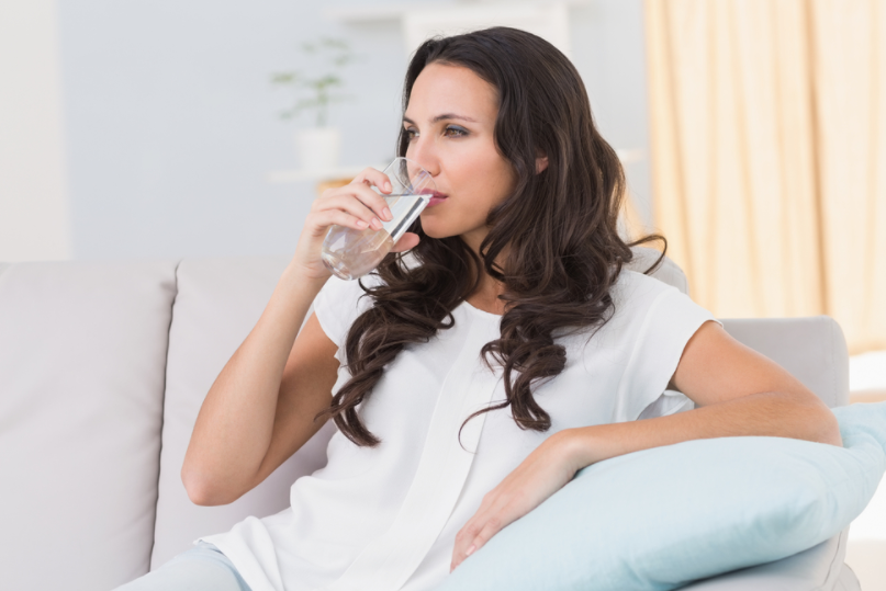 Drinking water can help you to get rid of a headache